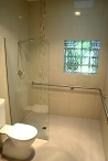 Bathroom developed to meet the accessability needs of the client.